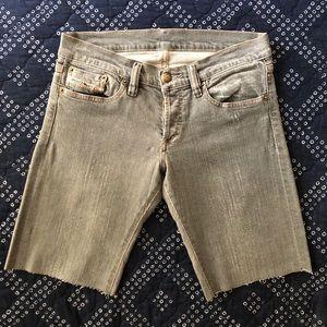 Original Diesel Gray Denim Jiker Shorts
